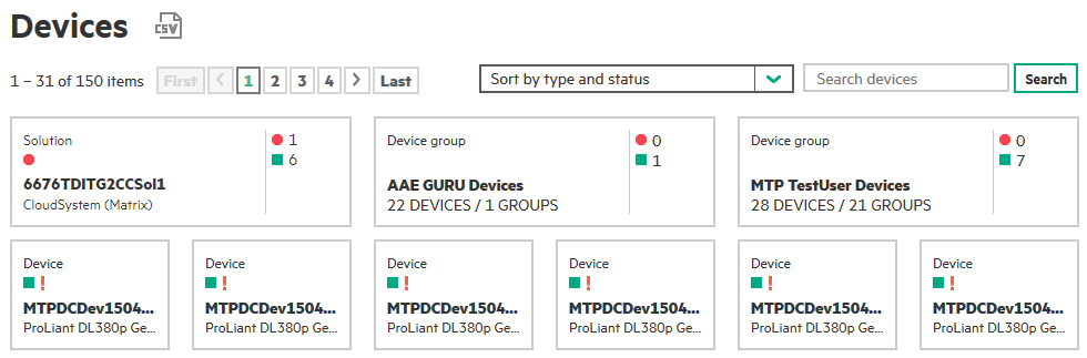 Manage your devices, device groups and solutions
